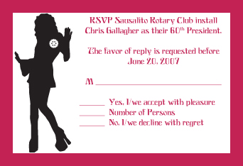 Rotary 60's Party Invite & RSVP Cards