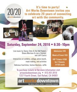 Art Works Downtown Newspaper Ad Marin IJ 2020 Full Page Ad
