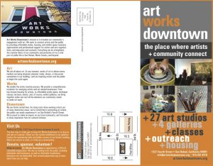 Art Works Downtown Trifold Brochure