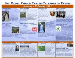 Bay Model Visitor Center feb2013 calendar