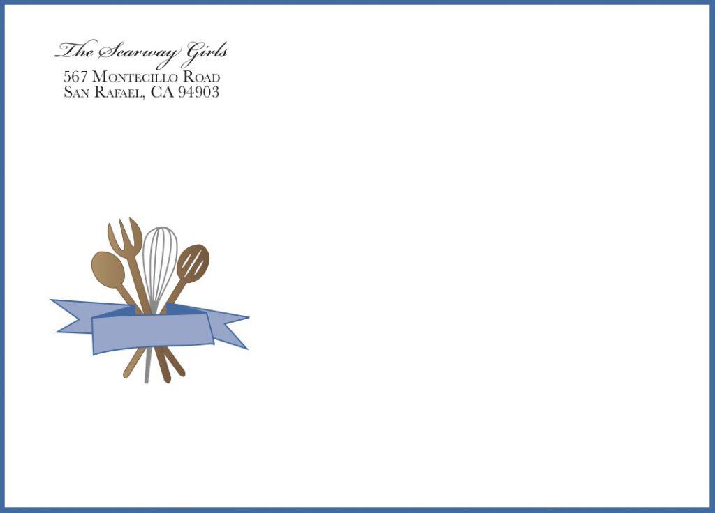 Bridal Shower Invite Envelope