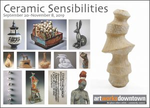 Ceramic Sensibilities Art Exhibition at the 1337 Gallery Art Works Downtown Postcard