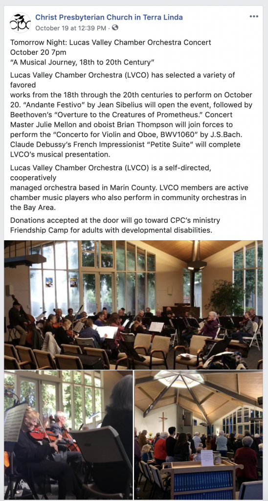 Christ Presbyterian Church in Terra Linda Facebook Page San Rafael Social Media Marketing