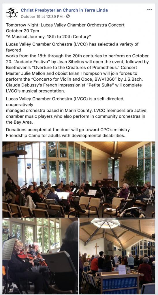 Christ Presbyterian Church in Terra Linda Facebook Page San Rafael Social Media Marketing