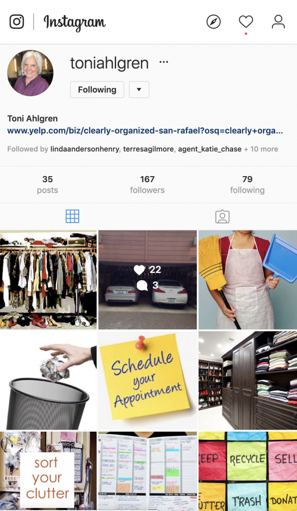 Clearly Organized Instagram Page