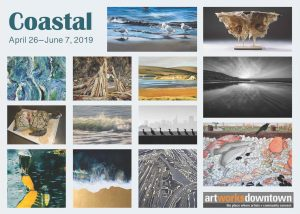 Coastal Art Exhibition at the 1337 Gallery Art Works Downtown Postcard