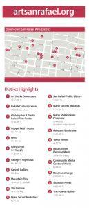 Downtown San Rafael Arts District Rack Card