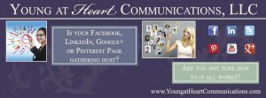 Diane Castro Young at Heart Communications Facebook Business Page Cover Image