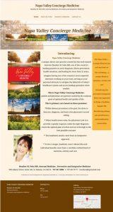 Napa Valley Concierge Medicine wordpress website
