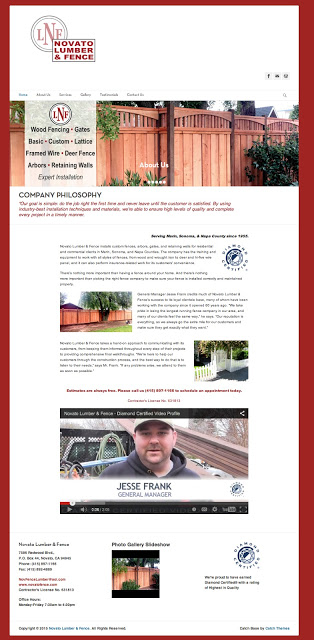 Novato Lumber & Fence WordPress
