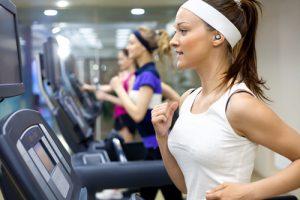 Nuheara running in gym
