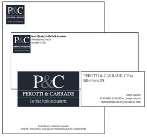 Perotti & Carrade | Certified Public Accountants Logo and Branded Materials