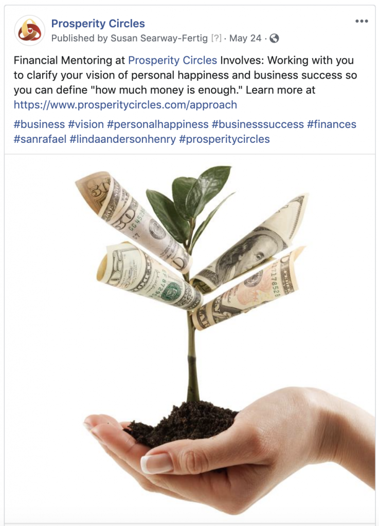 Prosperity Circles Facebook Business Page San Francisco Social Media Marketing