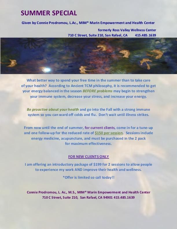 Marin Health Empowerment Center Flier
