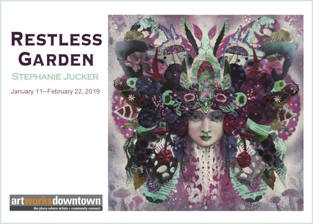 Restless Garden Stephanie Jucker Art Exhibition at the 1337 Gallery Art Works Downtown Postcard