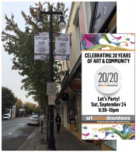 20/20 Art fundraiser Street Banners
