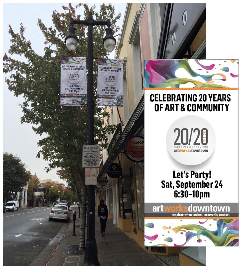 Street Light Banner Ad