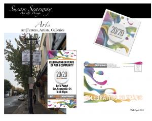20/20 Art Fundraiser Marketing Materials