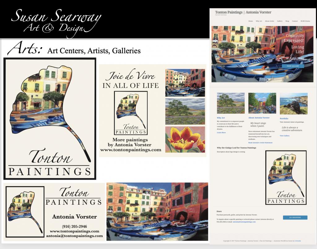 Tonton Paintings   Antonia Vorster   Artist   Identity Package