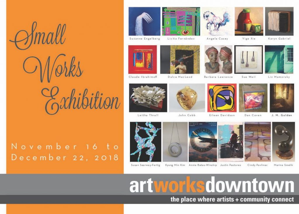 Small Works Exhibition Postcard Art Exhibition at the 1337 Gallery Art Works Downtown