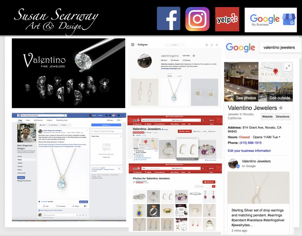 Valentino Fine Jewelers Social Media Posting