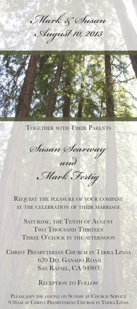 Wedding Invitation Redwood Theme