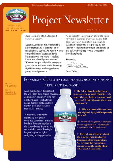 Arrowhead Newsletter