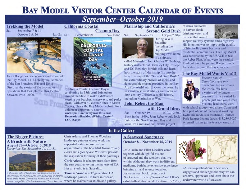Bay Model Visitor Center Bi-Monthly Calendar