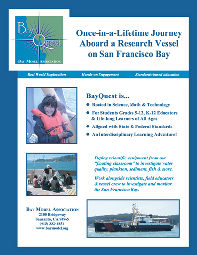 BayQuest advertising Flier about the Program