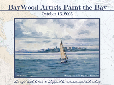 baywood artists art exhibition postcard