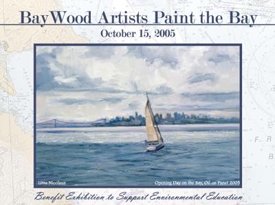 baywood artists art exhibition postcard