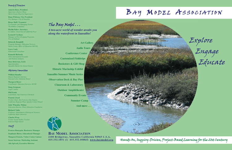 Bay Model Association bi-fold printed prochure