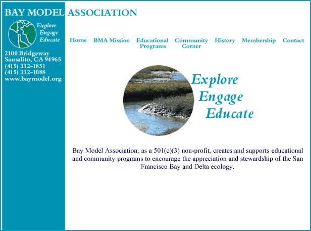 Bay Model Association- Website