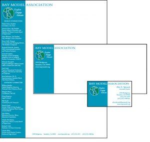 Bay Model Association Identity Letterhead envelope business card