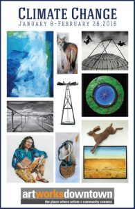 Climate Change Art Exhibition at the 1337 Gallery Art Works Downtown Postcard