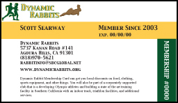 dynamic rabbits membership card