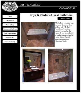 Ed J. Roualdes, Ed's Showroom, Website Designed by Susan Searway Art & Design