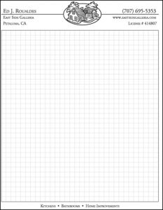 Ed's Showroom graph paper notepad