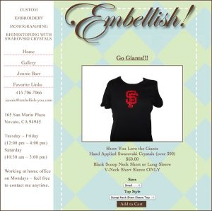 Embellish! Designs by Jennie Barr Website designed by Susan Searway Art & Design