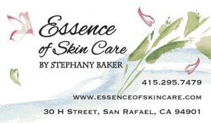 essence skincare business card