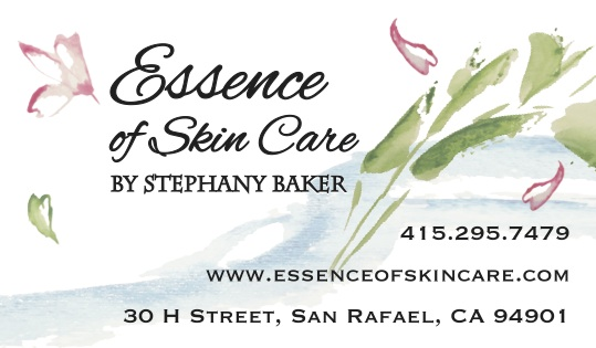 essence skincare business card