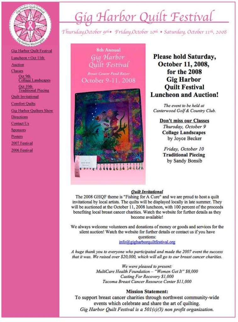 Gig Harbor Quilt Festival 2008 Website