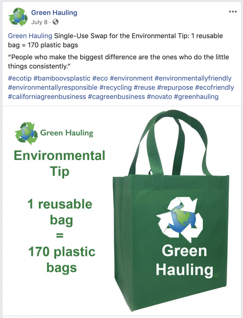 Green Hauling Facebook Business Page Social Media Marketing