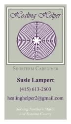 Healing Helper business cards