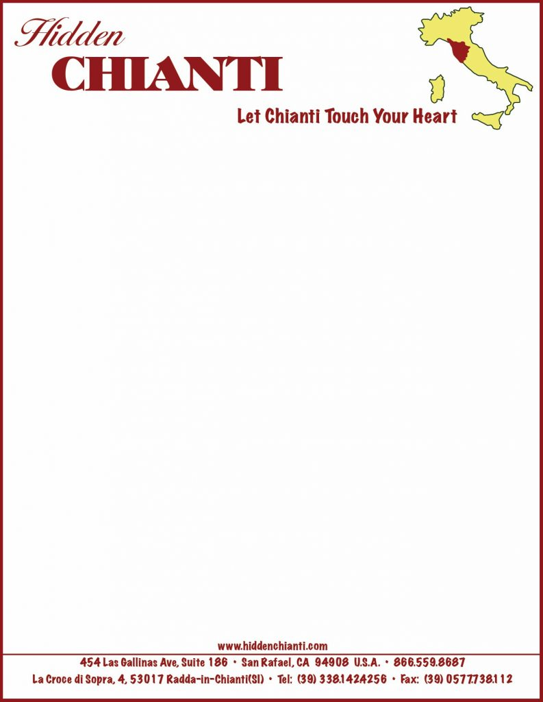 Hidden Chianti Italy Travel logo letterhead