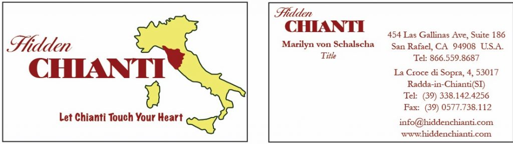 Hidden Chianti Italy Travel logo business Cards