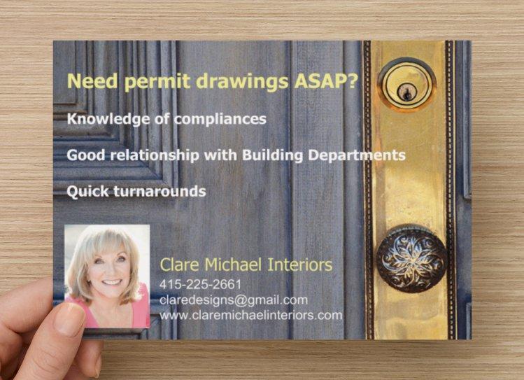 Clair Michael Interiors Design Postcard