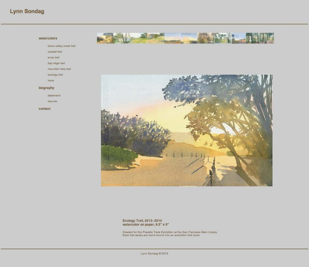 Lynn Sondag San Francisco Artist Website designed by Susan Searway Art & Design