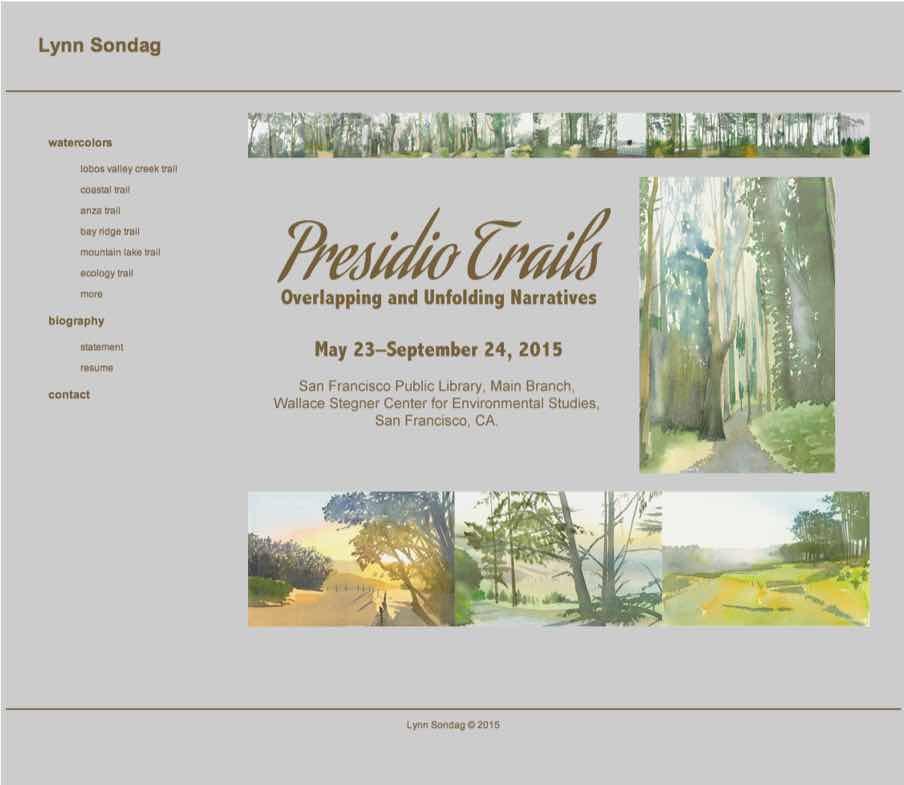 Lynn Sondag San Francisco Artist Website designed by Susan Searway Art & Design