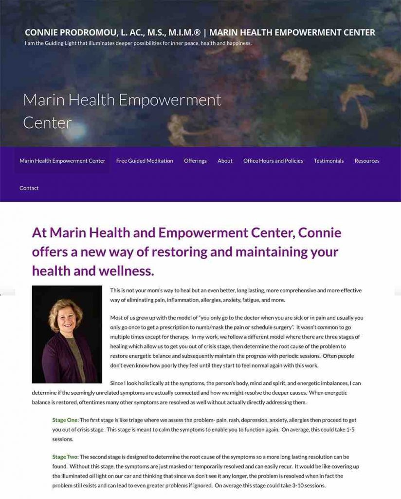 Marin Health Empowerment Center WordPress Website